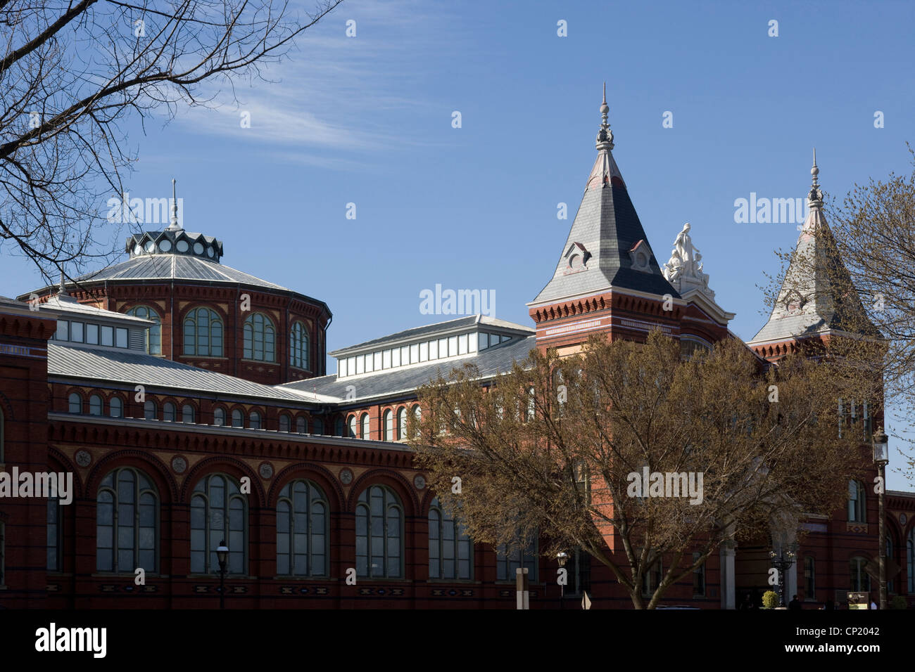 Arts and Industries Building, Smithsonian Institution, Washington D.C. USA, Architects: Architects: Adolf Cluss - Stock Image