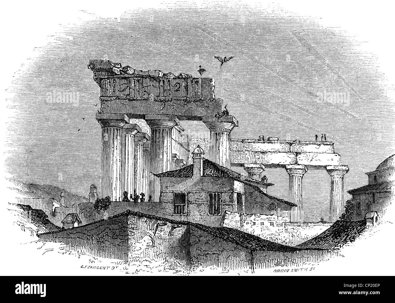 Parthenon Drawing Stock Photos Amp Parthenon Drawing Stock