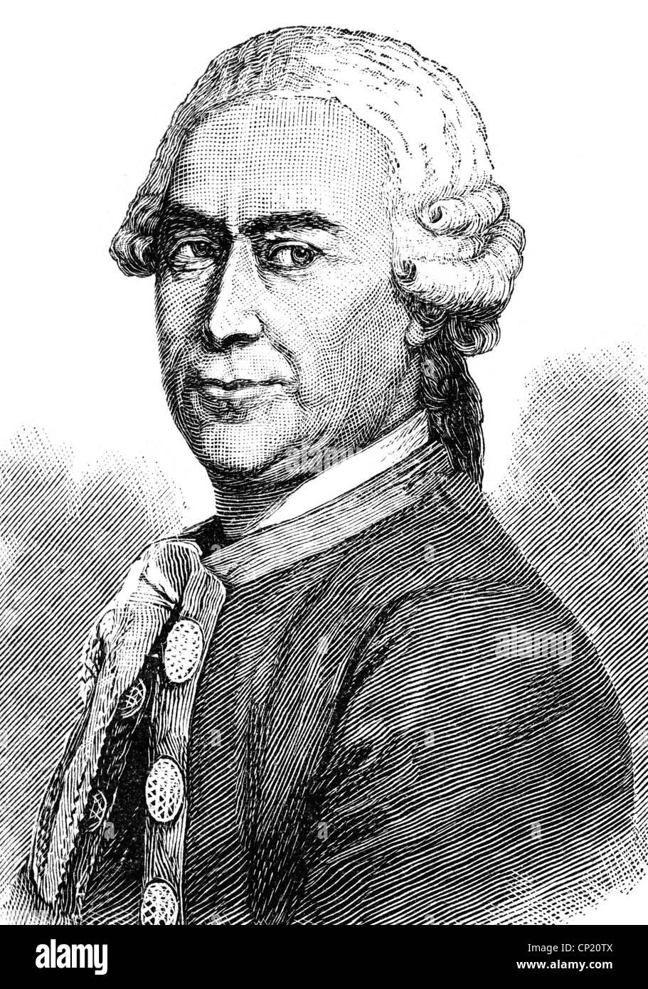 Tassaert, Jean-Pierre-Antoine, circa 1727 - 21.1.1788, French sculptor, portrait, wood engraving, 19th century, - Stock Image