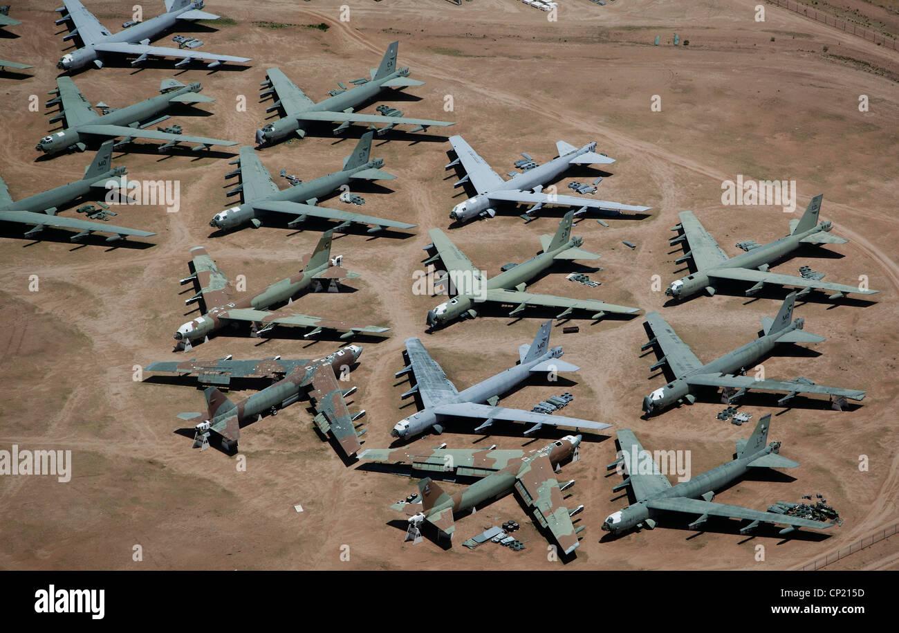 Abandoned Military Aircraft At An Air Force Base In Arizona