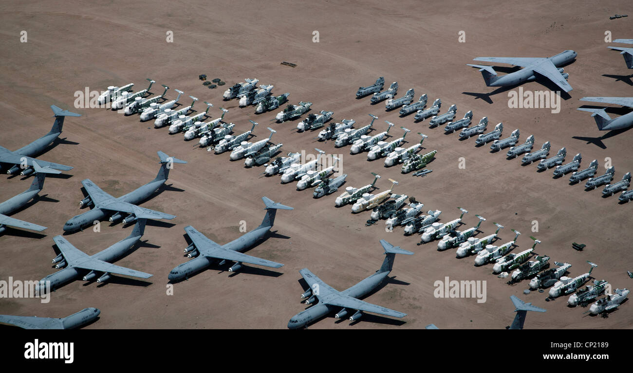Mercial Airliners Sit In Southern California