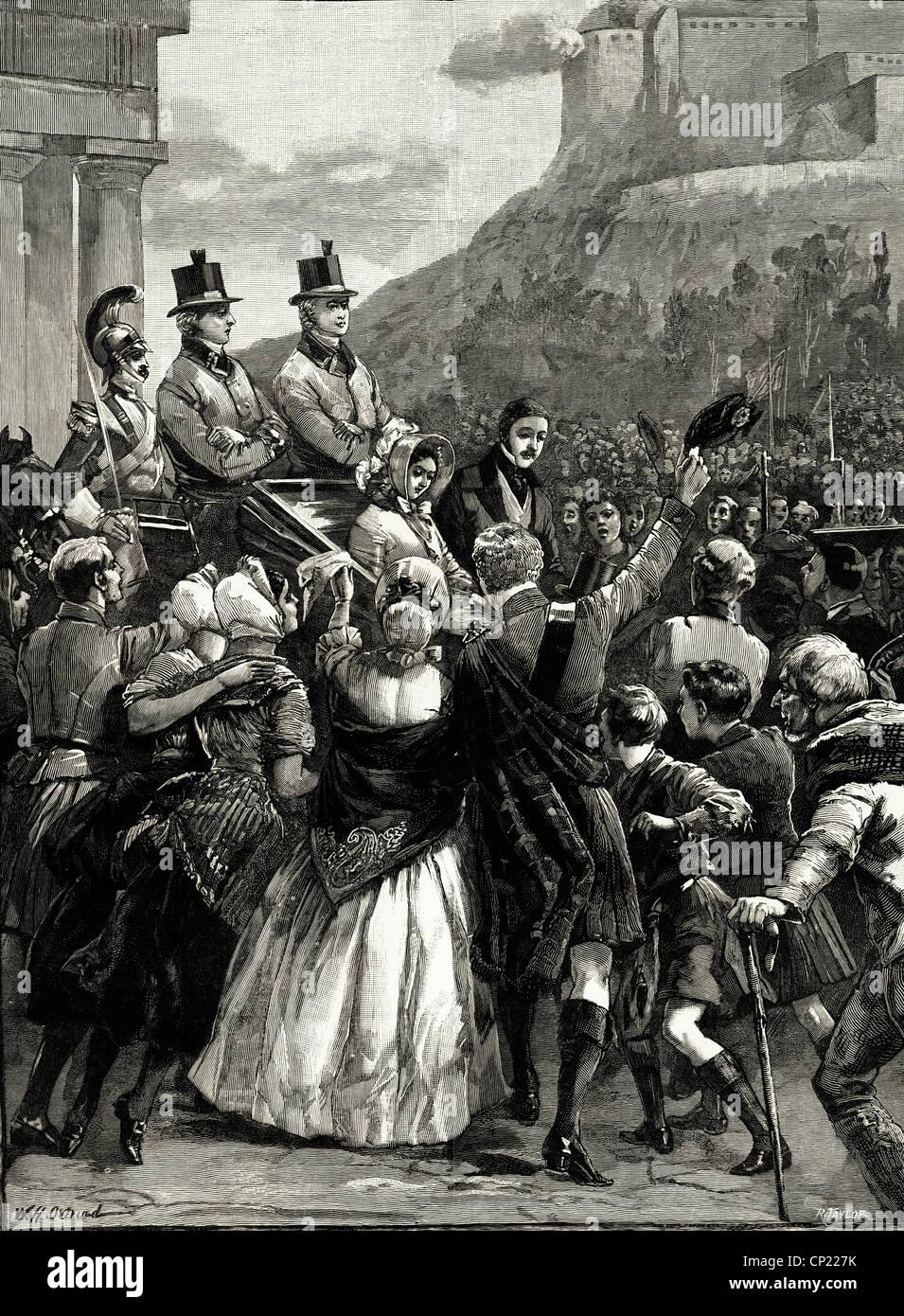 Queen Victoria And Prince Albert Visiting Edinburgh September 3rd Stock Photo Alamy