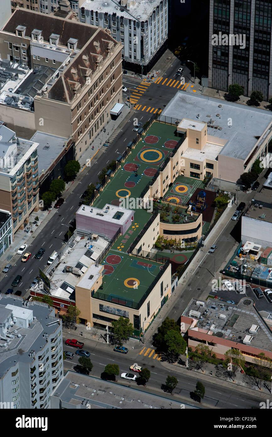 aerial photograph San Francisco School District, California - Stock Image