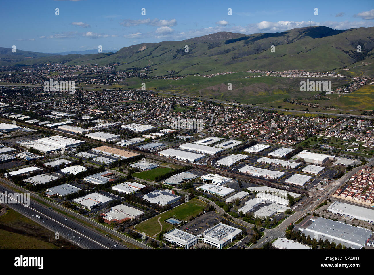 aerial photograph Fremont, Alameda County, California - Stock Image