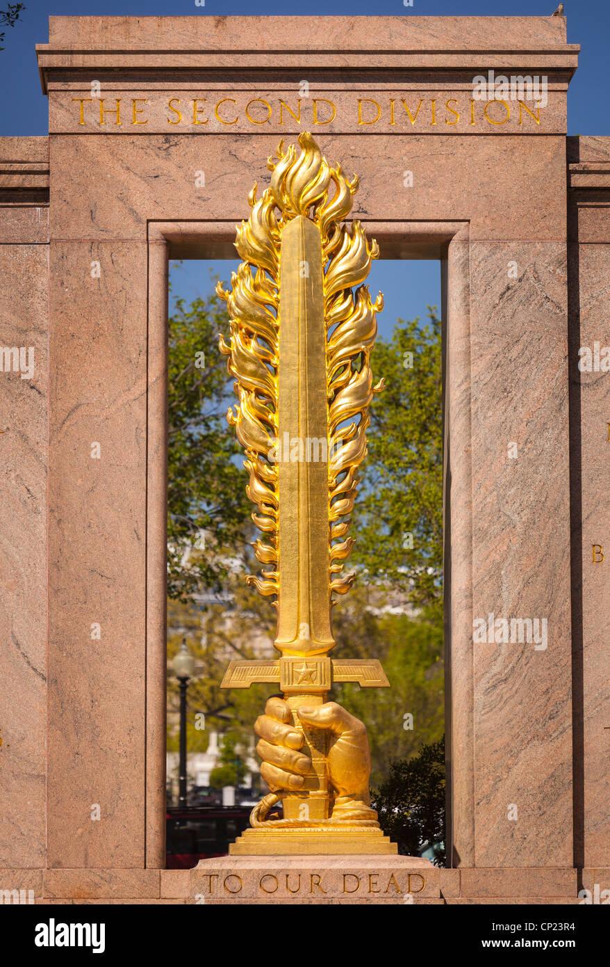 WASHINGTON, DC, USA - The Second Division World War I Memorial. - Stock Image