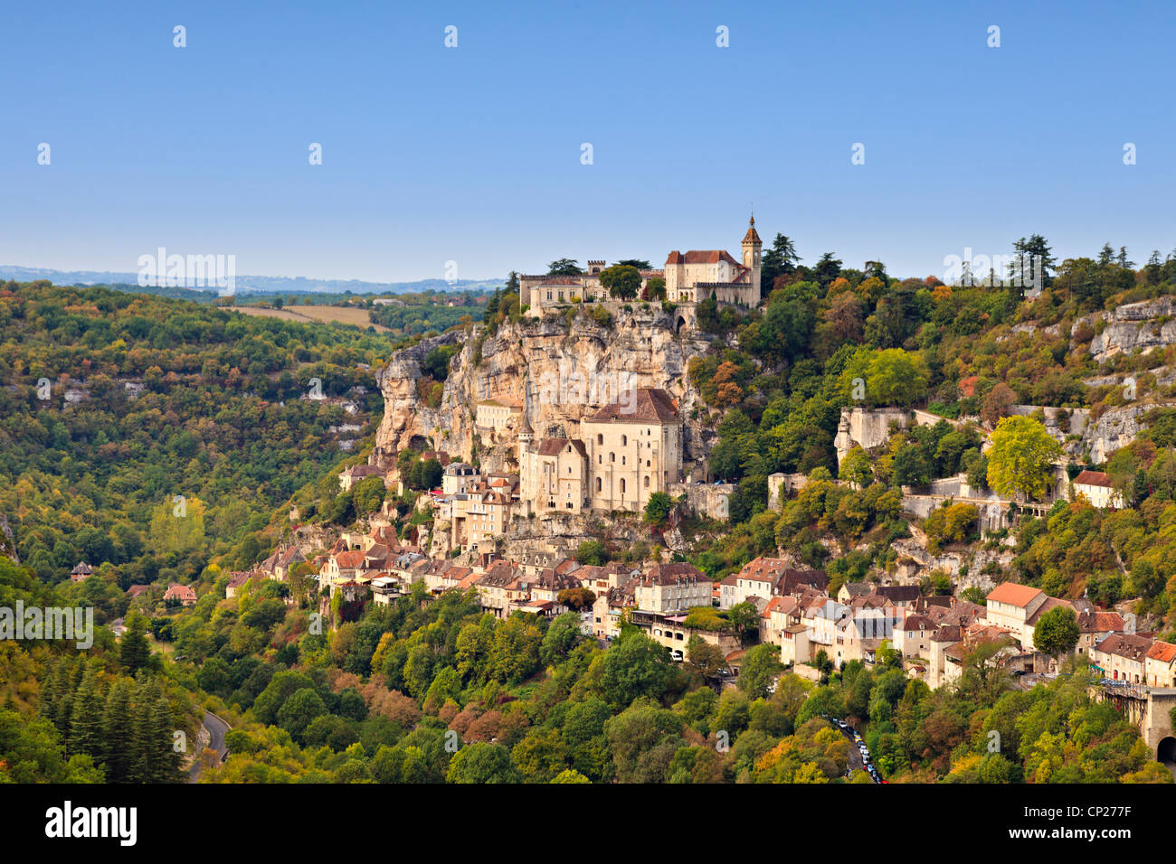 The medieval town of Rocamadour, in the Dordogne Valley, Midi-Pyrenees, France. - Stock Image