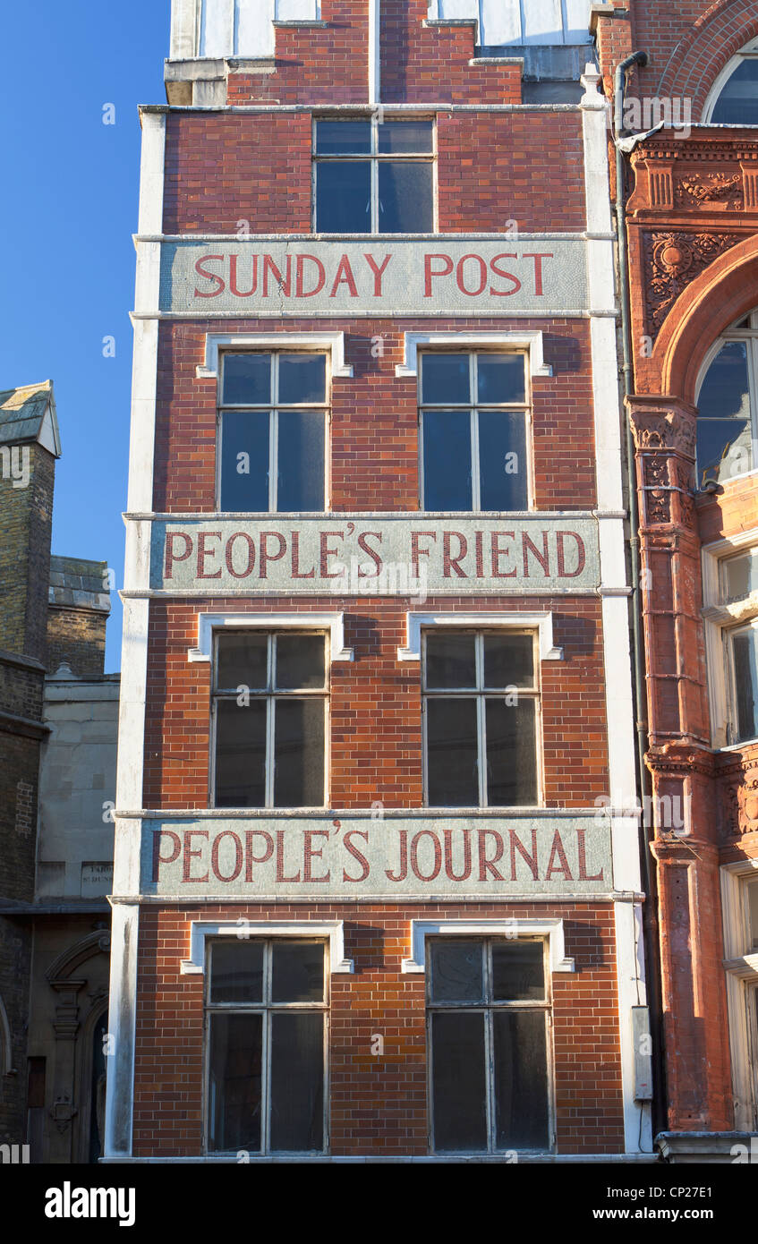 Former offices of Sunday Post People's Friend and People's Journal, London, UK - Stock Image