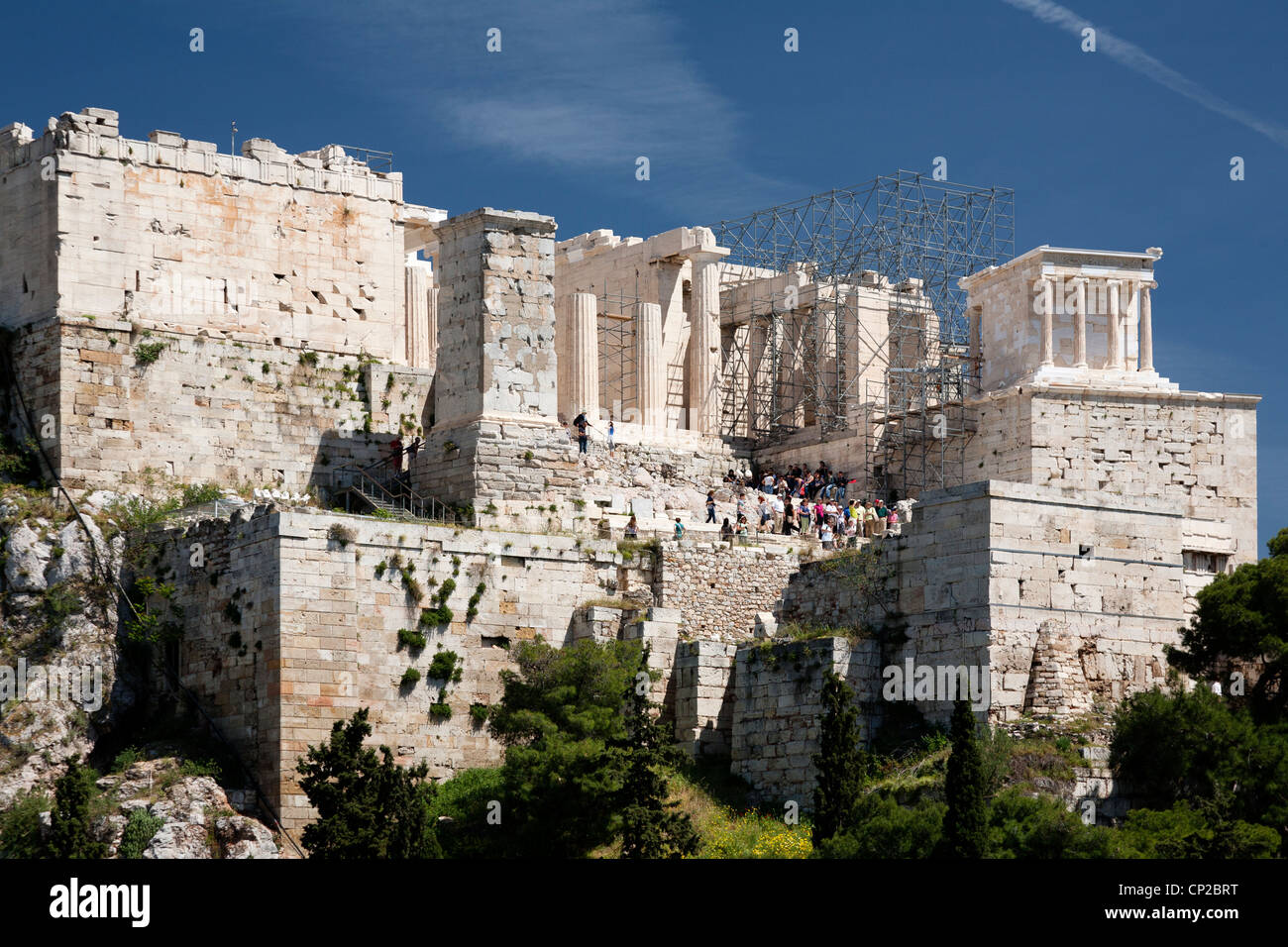Acropolis of Athens view from Areopagus hill. Athens, Greece. Stock Photo