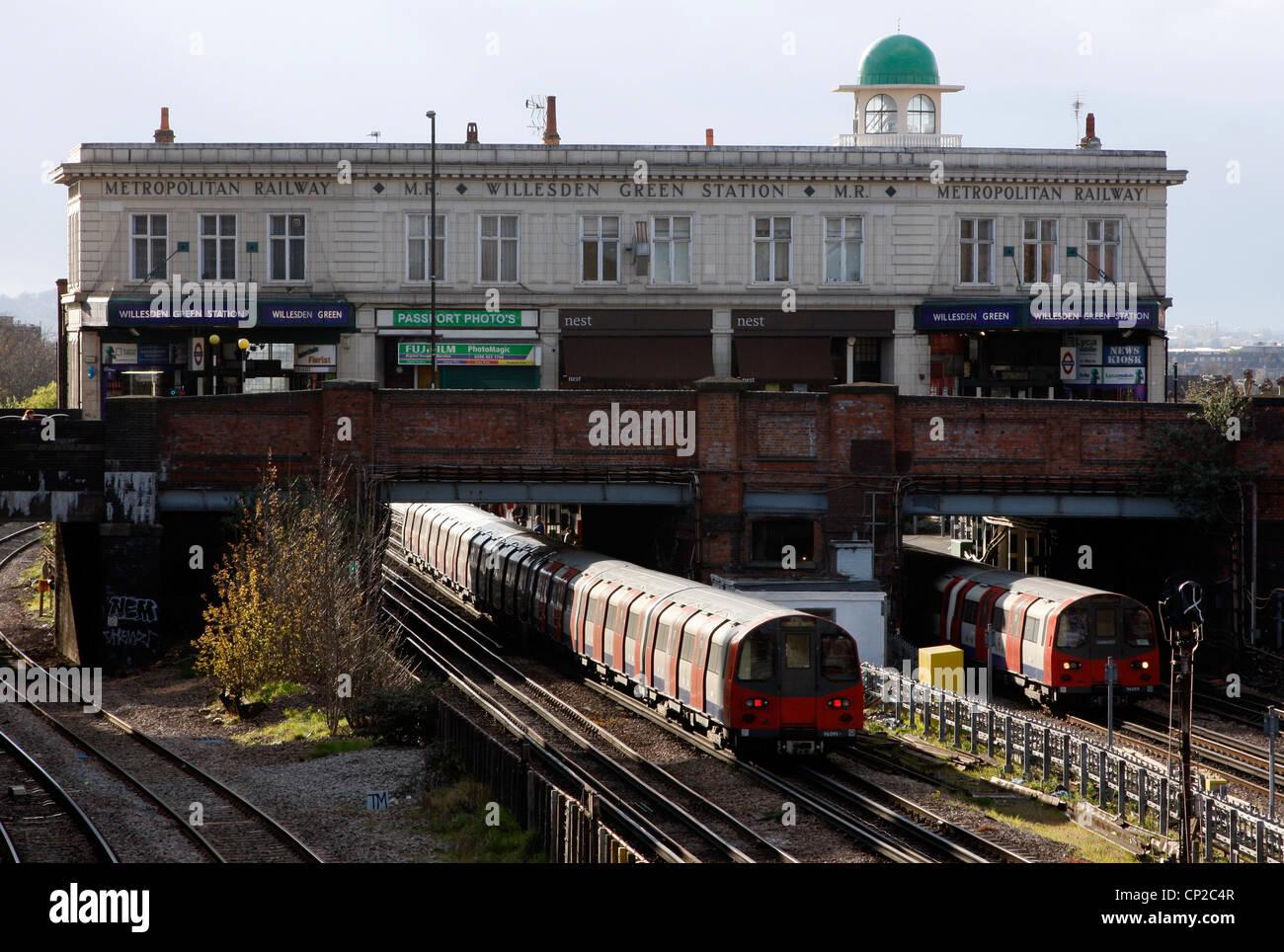 Willesden Green London Underground Station - Stock Image