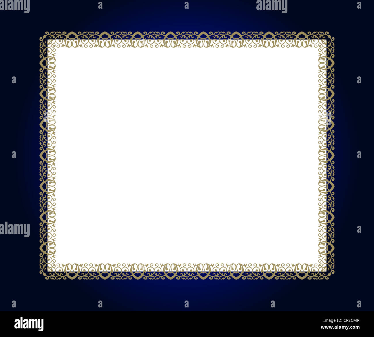 Artistic design on blue frame with white copy space Stock Photo