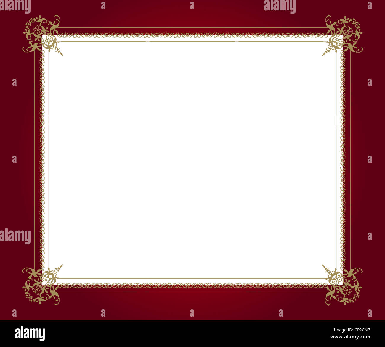 Artistic design on red frame with white copy space Stock Photo