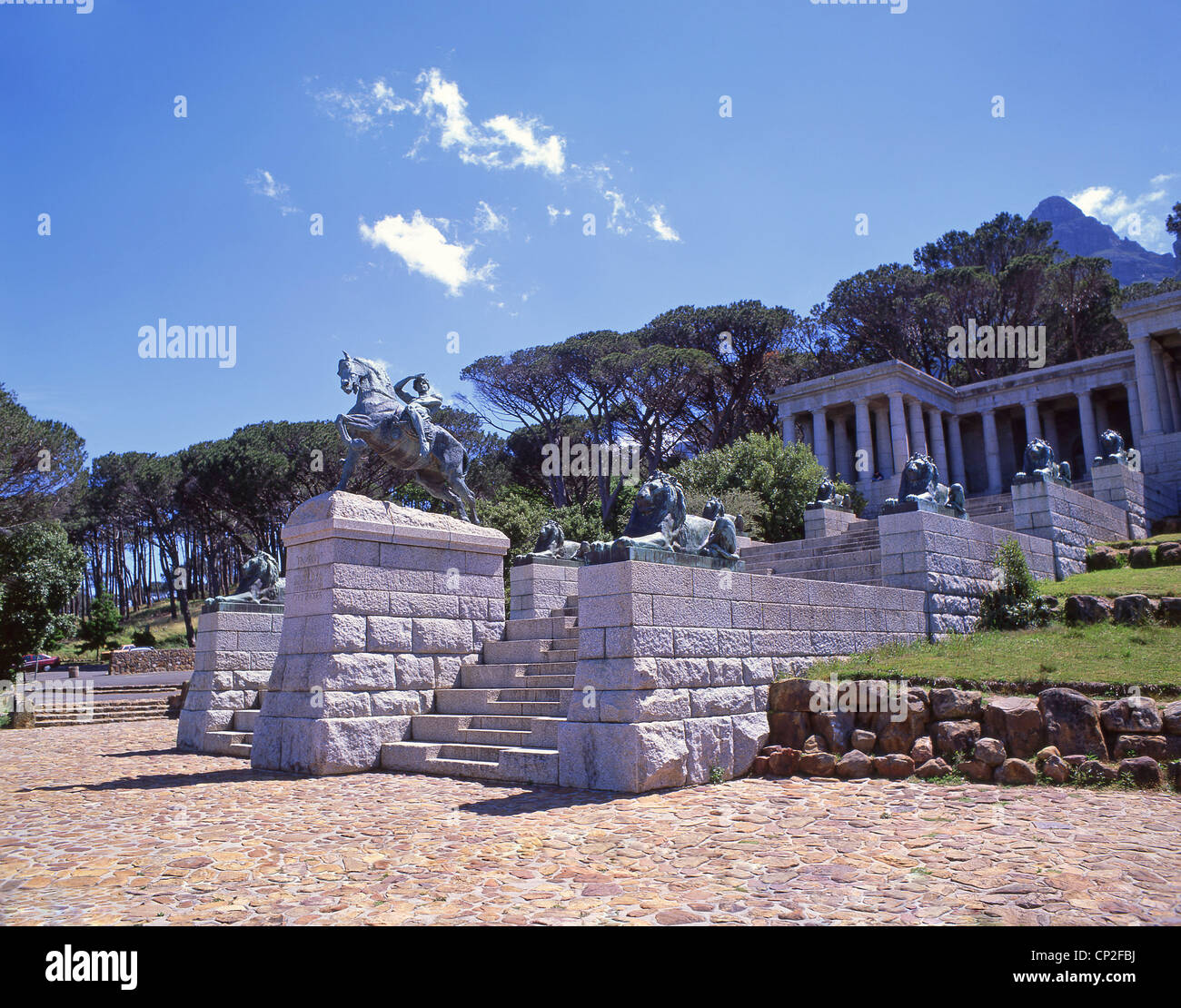 Cecil John Rhodes Memorial, Devil's Peak, Cape Town, Western Cape, Republic of South Africa - Stock Image