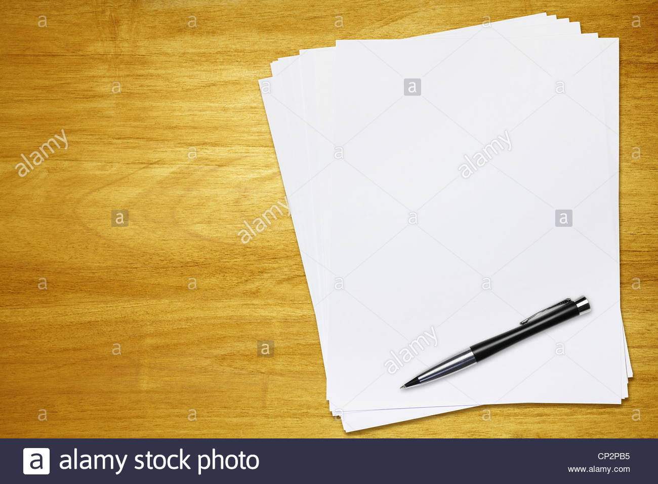 blank paper - Stock Image