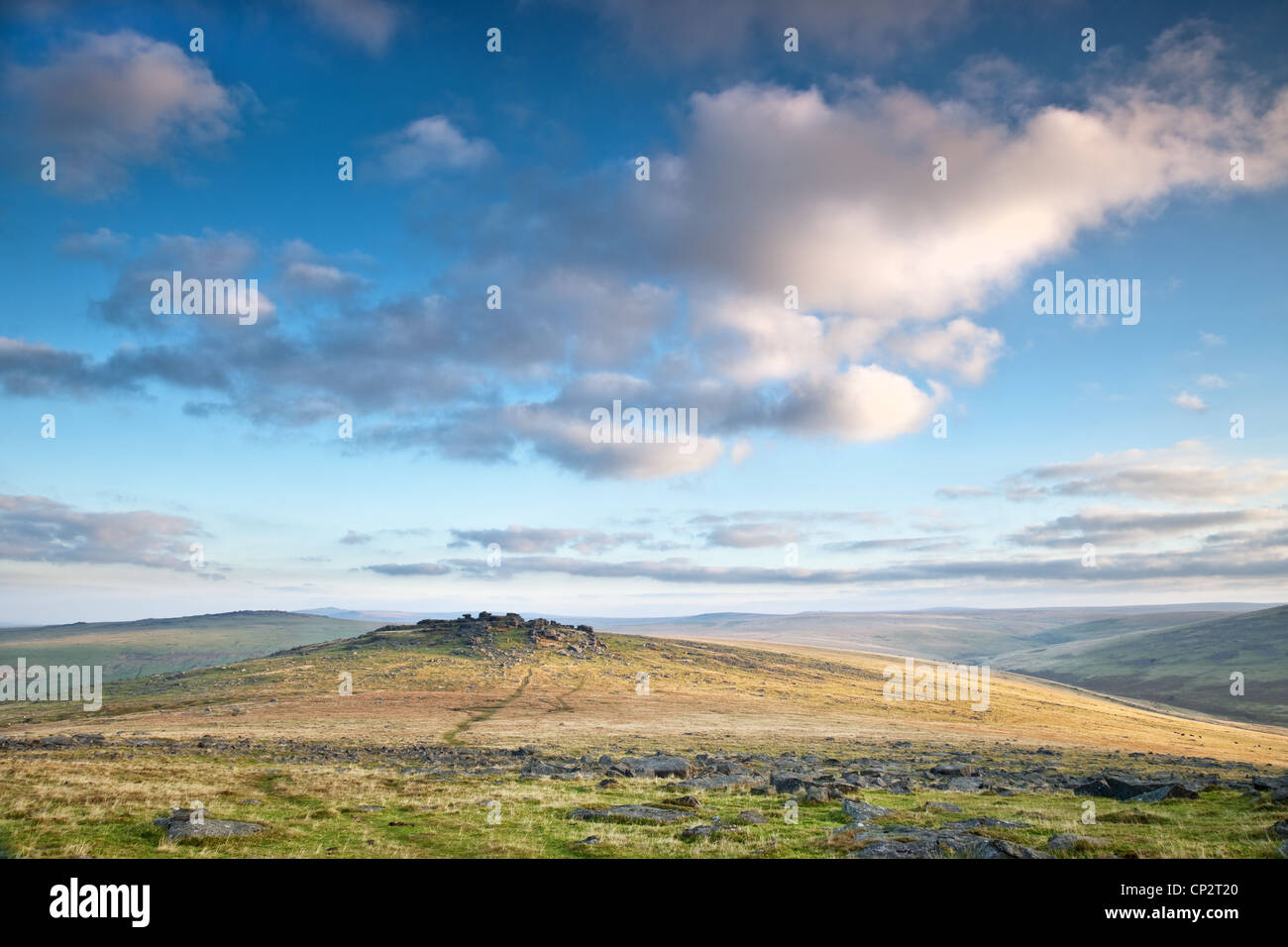 Cumulus clouds over Roo's Stock Photo