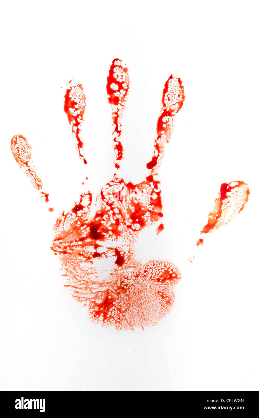 bloody handprint Stock Photo: 48007141 - Alamy