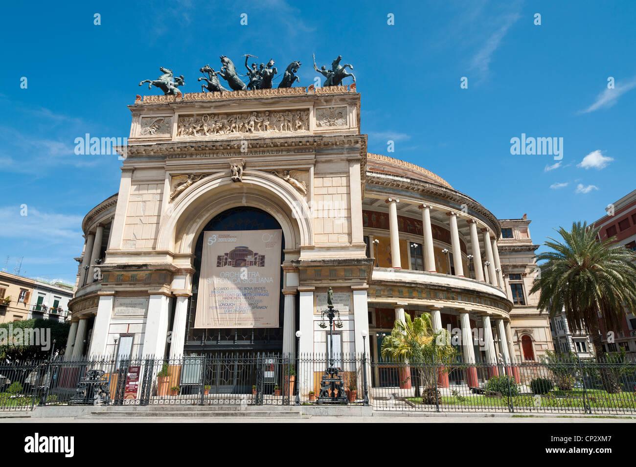 Palermo, Sicily, Italy - Teatro Politeama Garibaldi. Stock Photo