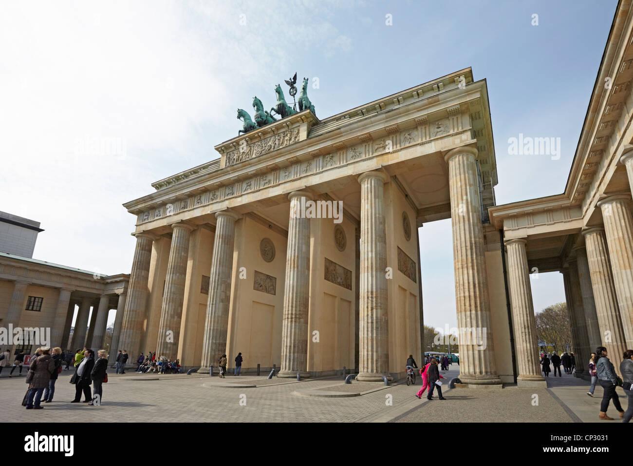 Berlin Brandenburg Gate or Brandenburger Tor at the end of the Unter Den Linden - Stock Image