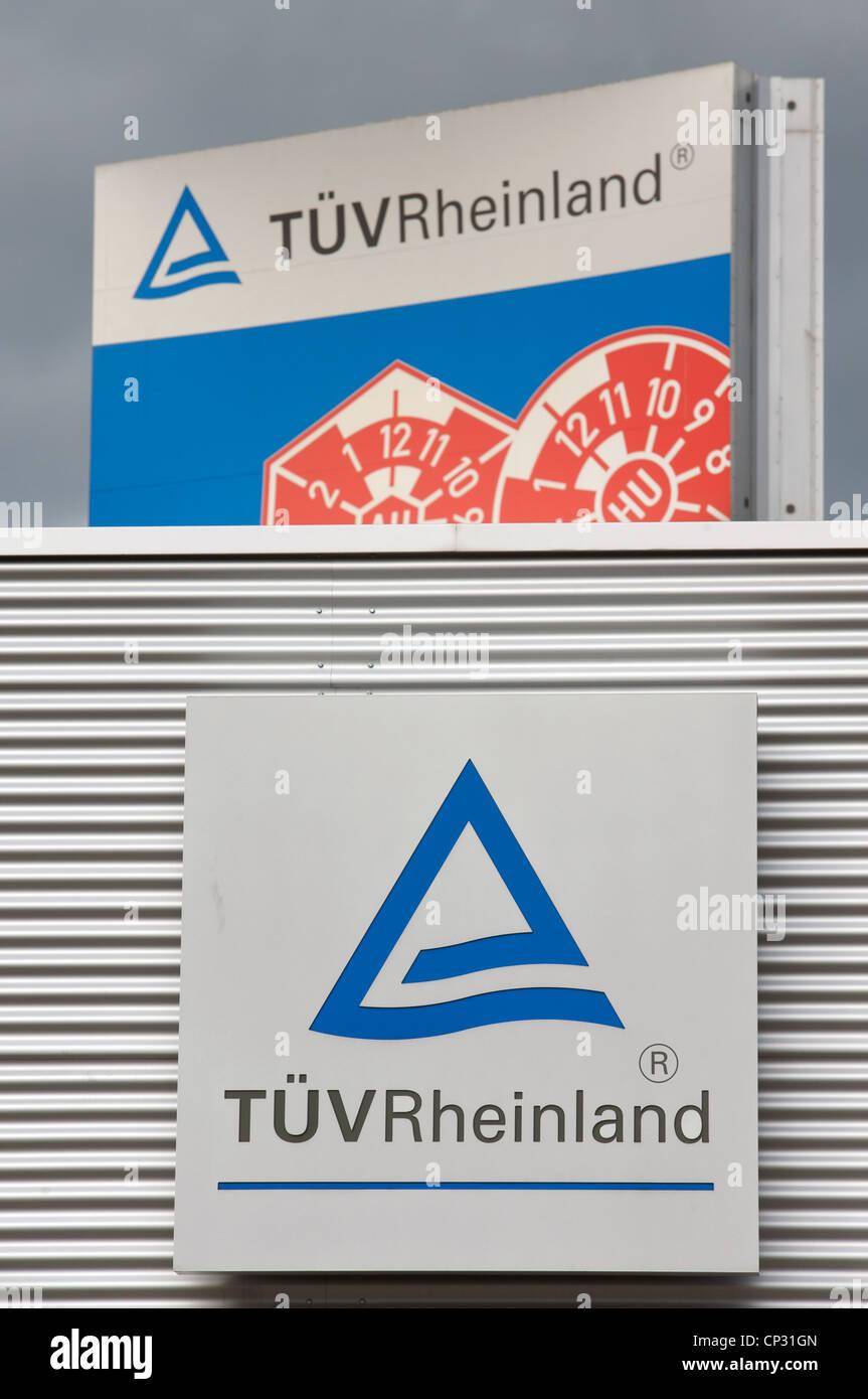 TUV Rheinland (MOT testing centre) Cologne Germany - Stock Image
