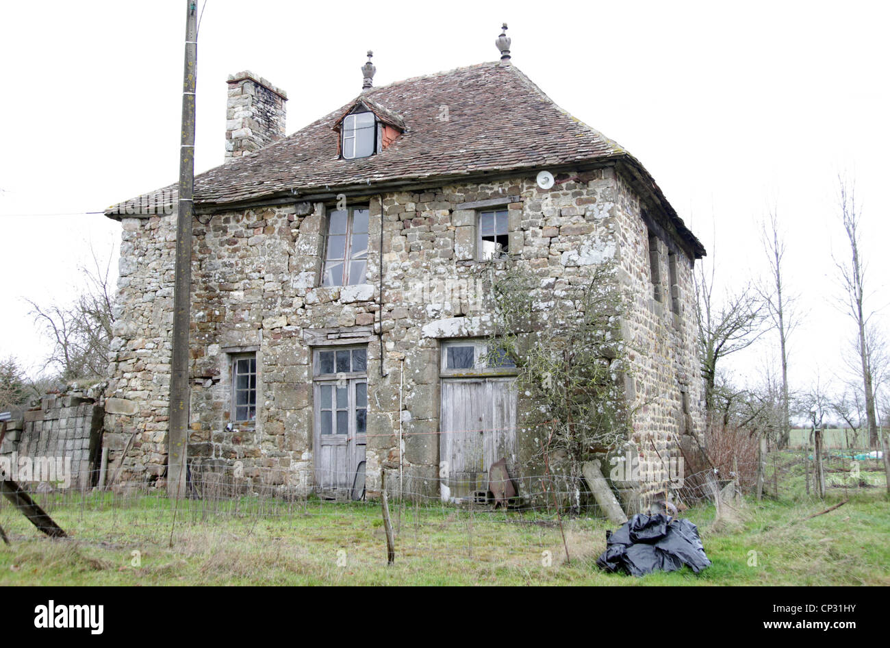 It S A Photo Of An Old House In Stone In Normandy In Countryside Of Stock Photo Alamy