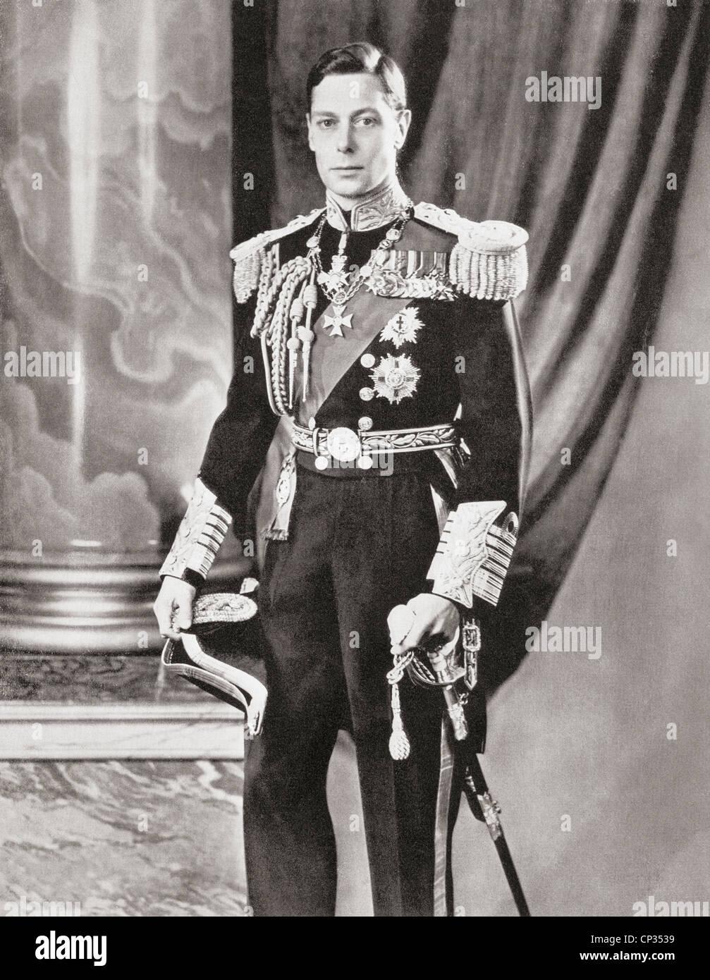 George VI, 1895 – 1952. King of the United Kingdom. - Stock Image