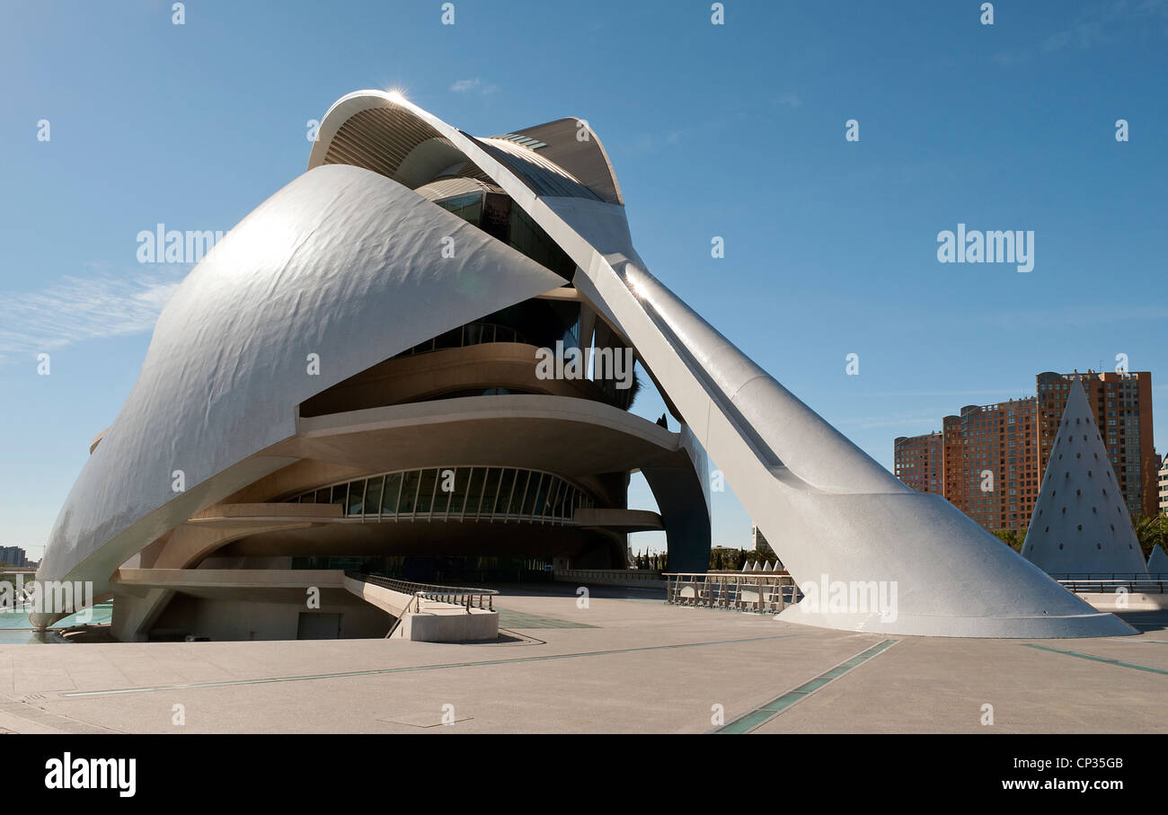 Opera House at the City of Arts and Sciences Valencia Spain Stock Photo