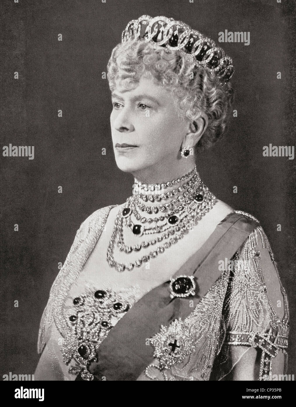 Mary of Teck, 1867 –1953. Queen consort as wife of George V. - Stock Image