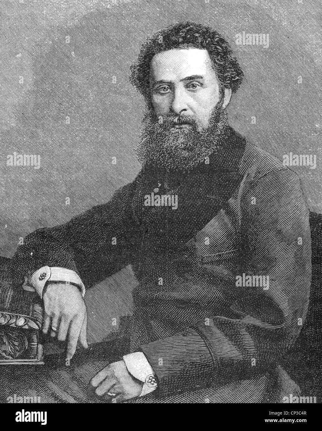 ROBERT BULWER-LYTON, 1st Earl of Lytton (1831-1891) English poet, statesman and Viceroy of India 1876-80 - Stock Image