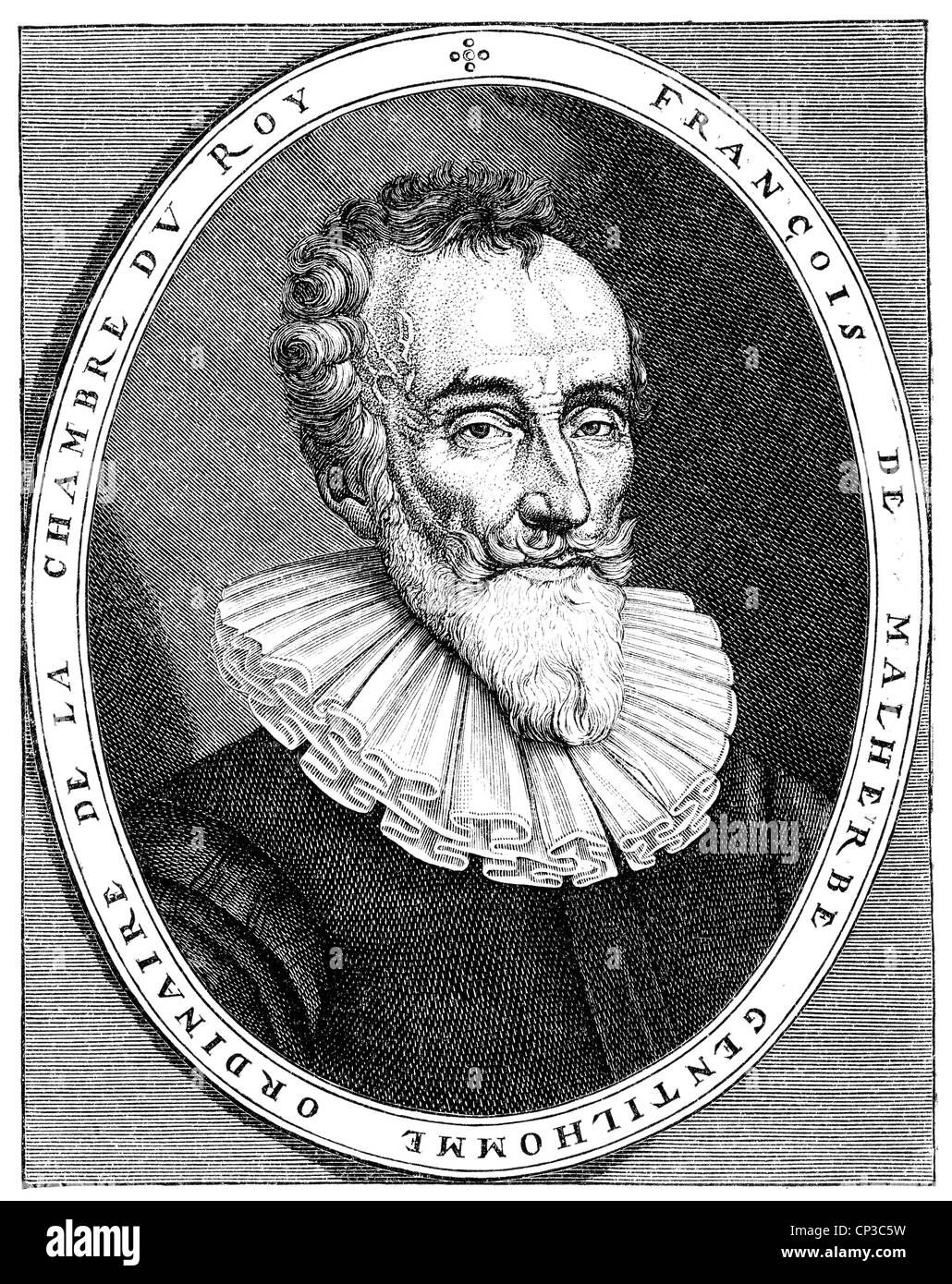François de Malherbe, 1555 - 1628, a French writer who paved the way for French classicism, - Stock Image
