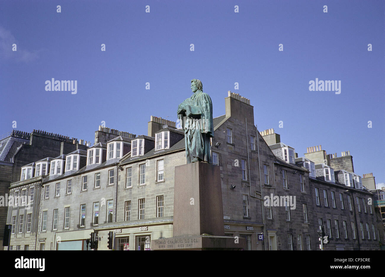Thomas Chalmers Statue, Scottish Mathematician & Leader of the Free Church of Scotland, George Street, Edinburgh, - Stock Image