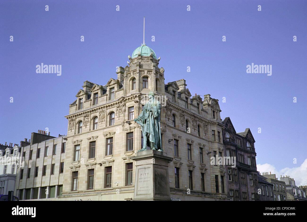 Statue of William Pitt the Younger (Britain's Youngest Prime Minister), George Street, New Town, Edinburgh, - Stock Image