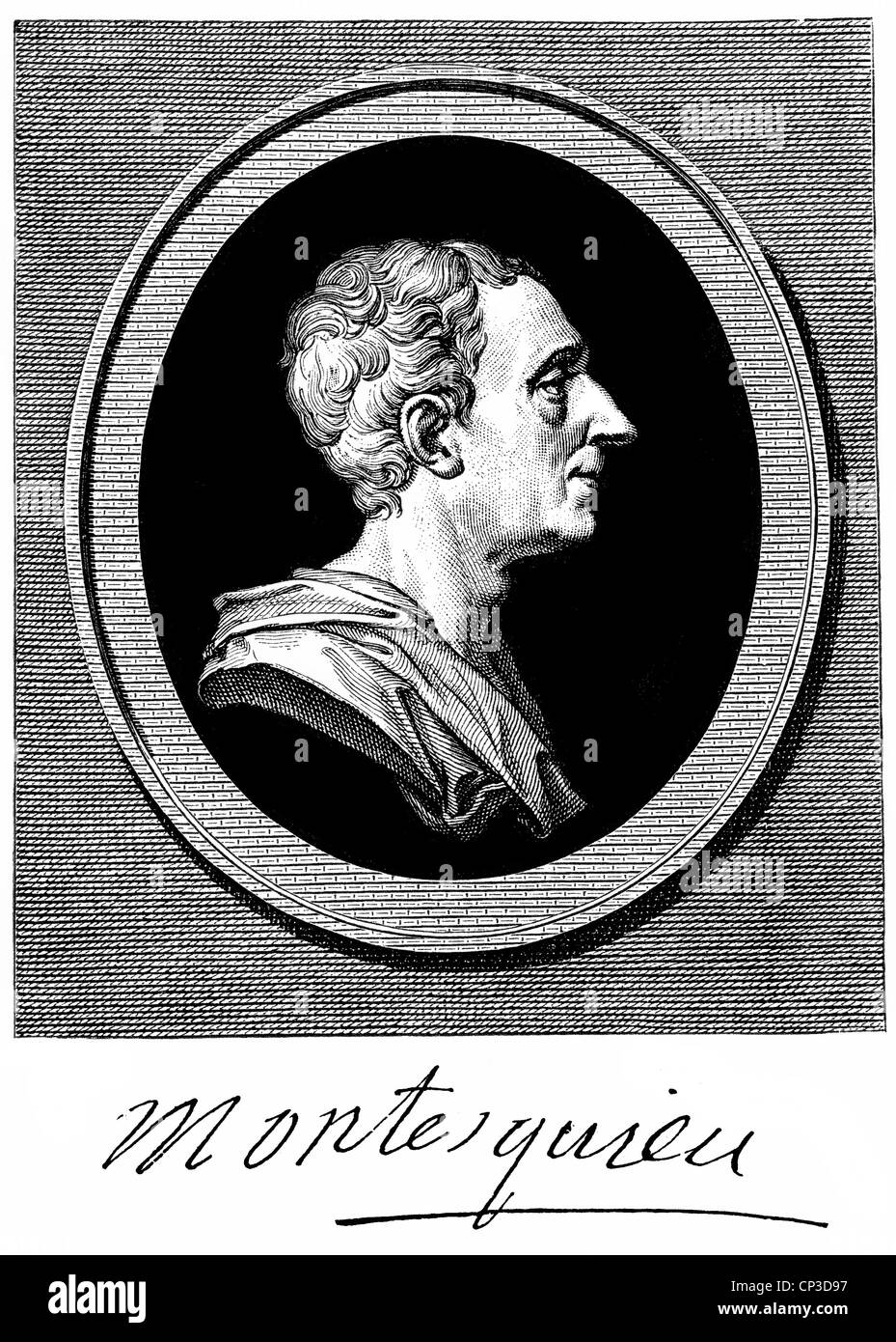 Charles-Louis de Secondat, Baron de La Brède et de Montesquieu, 1689 - 1755, a French writer, philosopher and - Stock Image