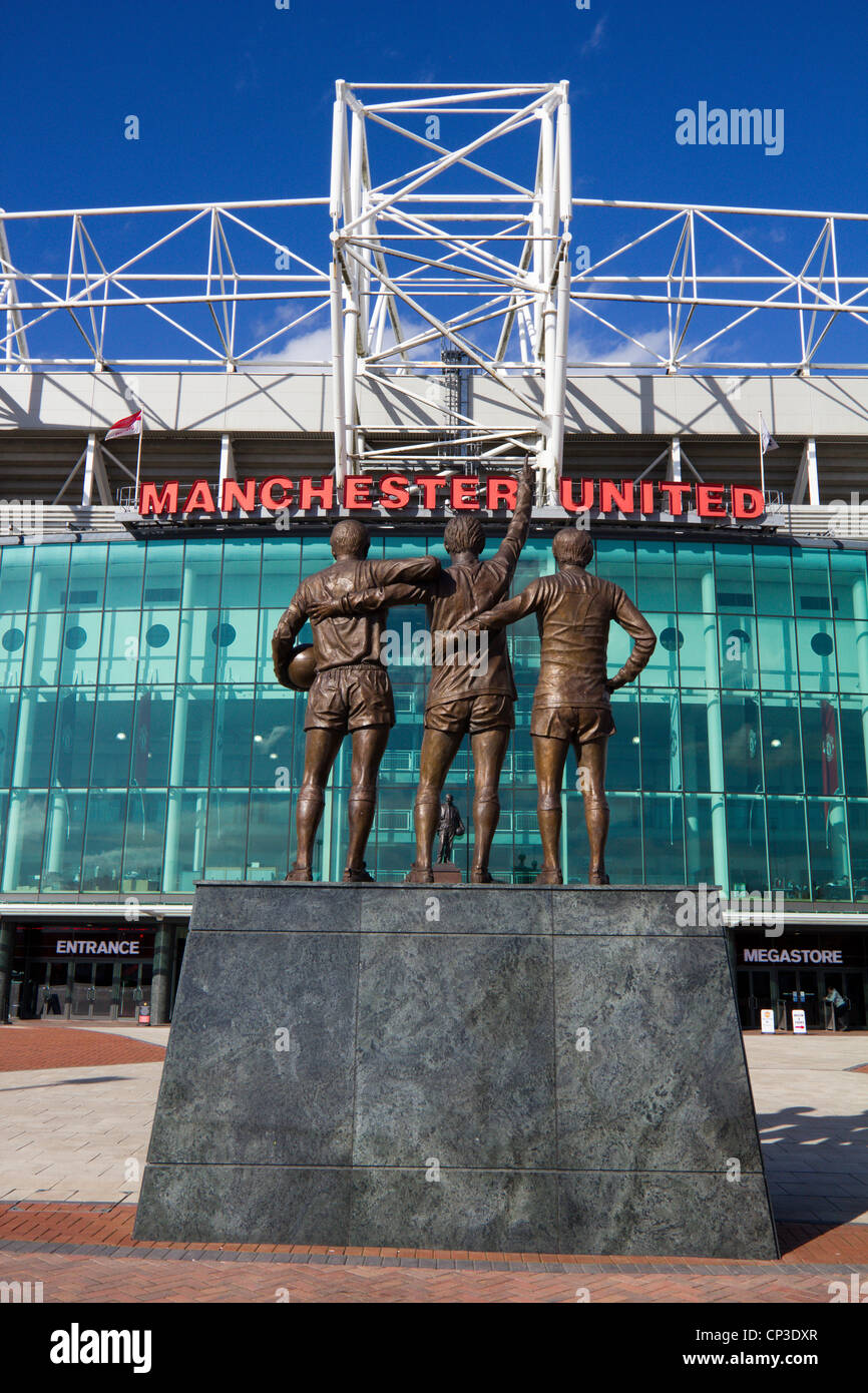 Manchester United Football Club Old Trafford, Greater Manchester midlands england uk gb - Stock Image