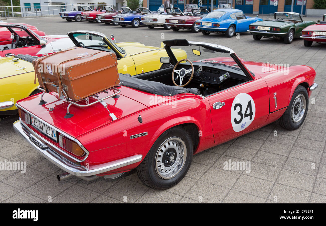 Vintage race car TRIUMPH Spitfire MK IV from 1973 Stock Photo ...