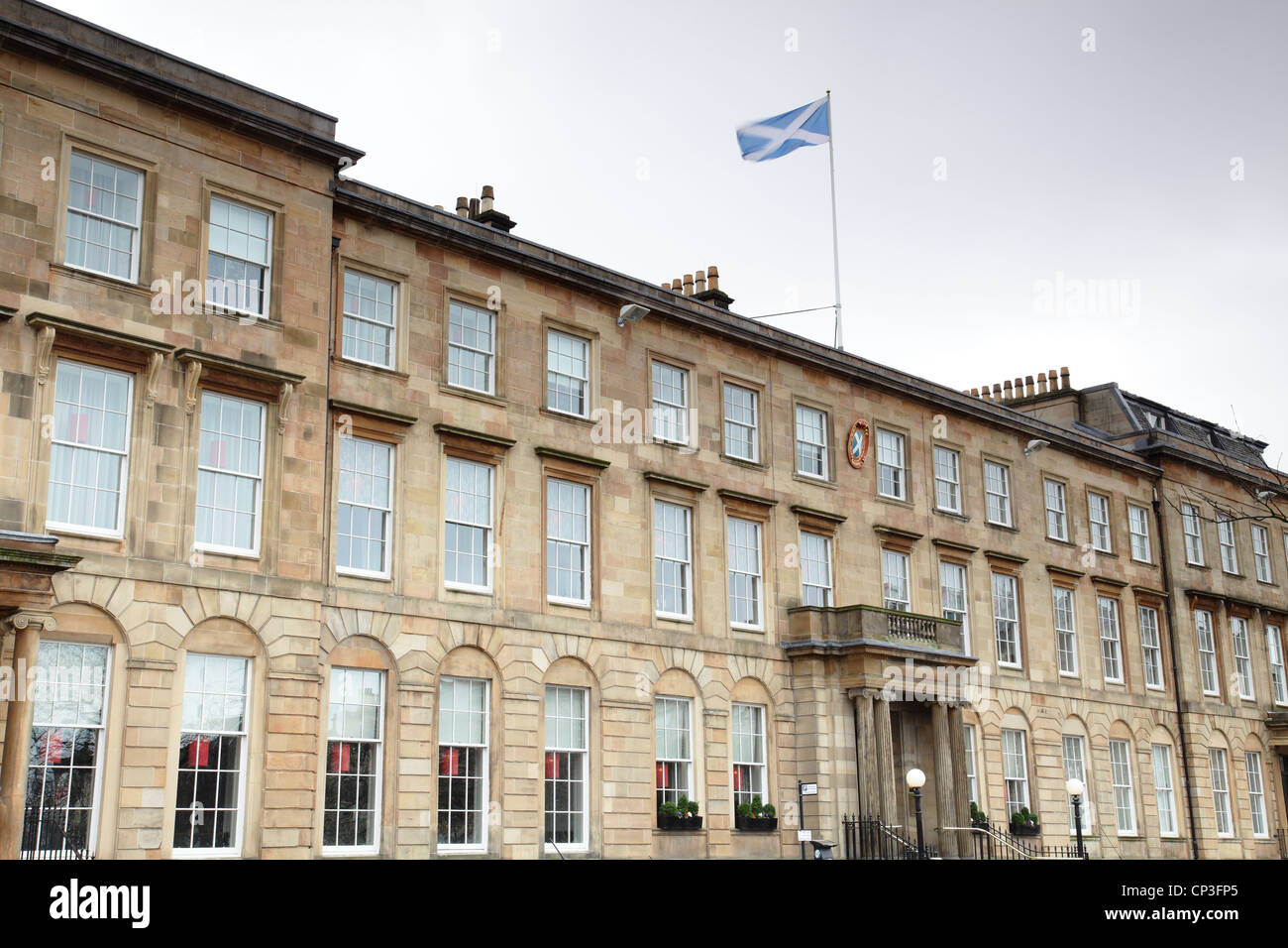 The Blythswood Square Hotel in the former Royal Scottish Automobile Club in Glasgow city centre, Scotland, UK - Stock Image
