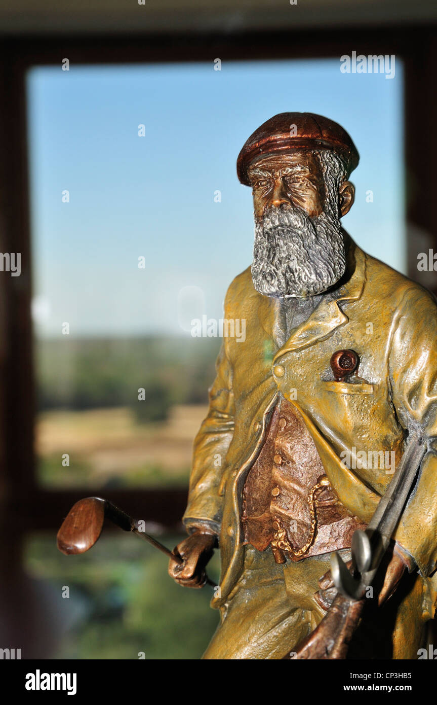 The Old Tom Morris Award displayed at the World Golf Hall of Fame is presented for a continuing lifetime commitment - Stock Image