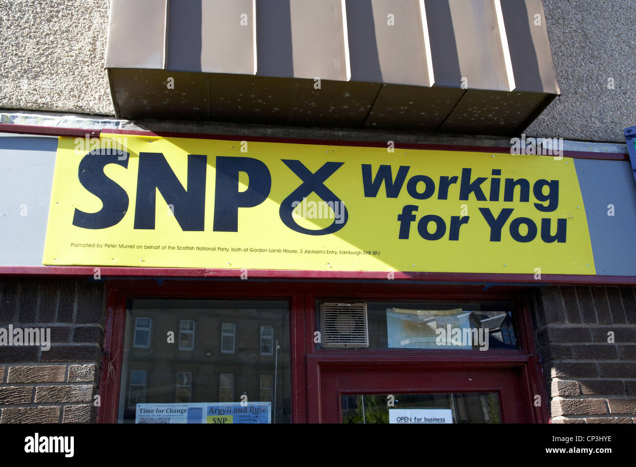 scottish national party constituency office in scotland - Stock Image
