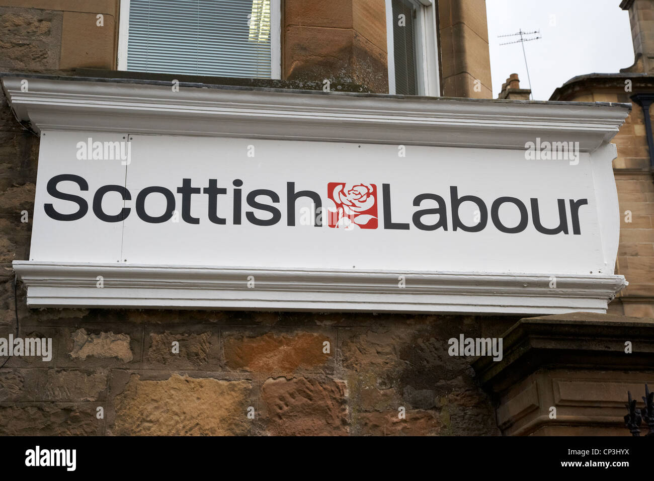 scottish labour party constituency office in scotland - Stock Image