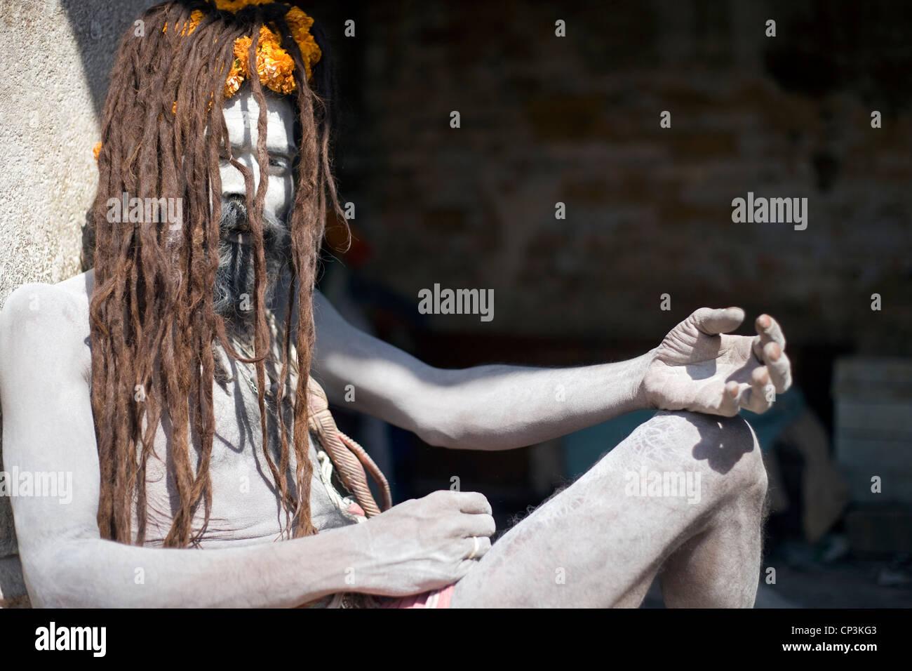 Balak Das sadhu, Pashupatinath,Kathmandu,Nepal - Stock Image