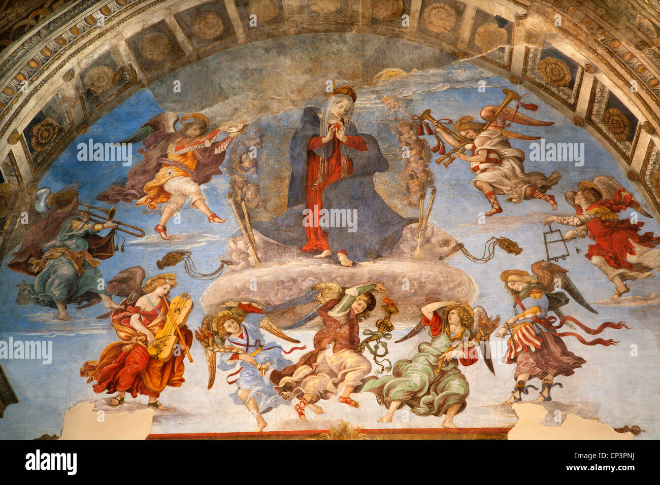 Rome - holy Mary in heaven and angels - Stock Image