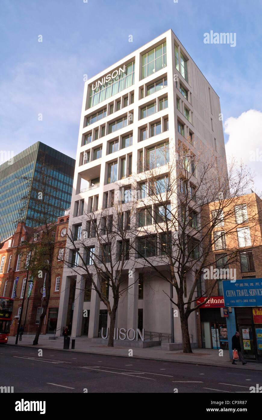 Unison tower on Euston Road, London, England, UK - Stock Image