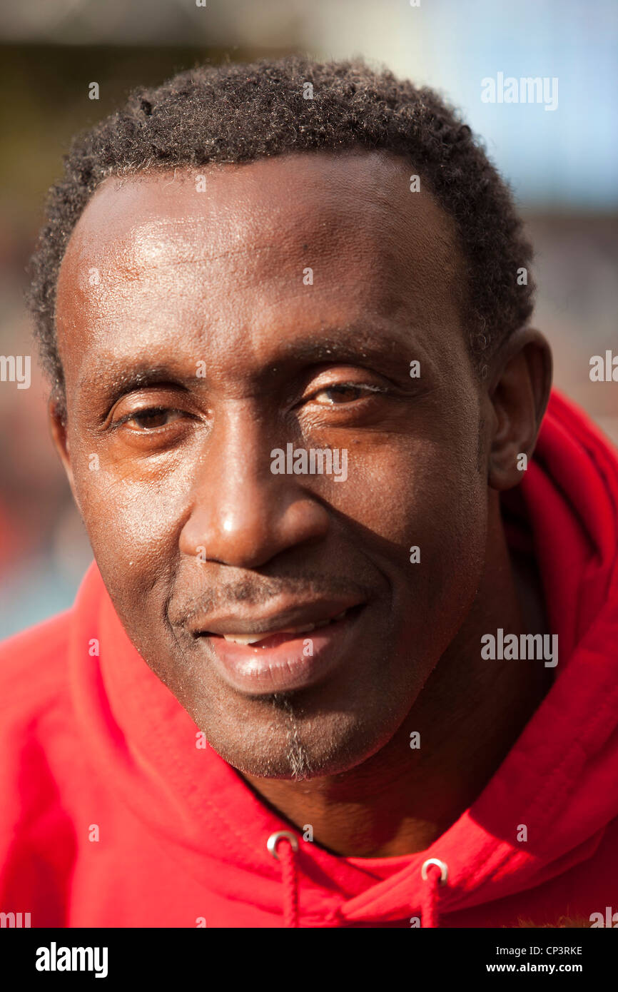 Linford Christie headshot - Stock Image