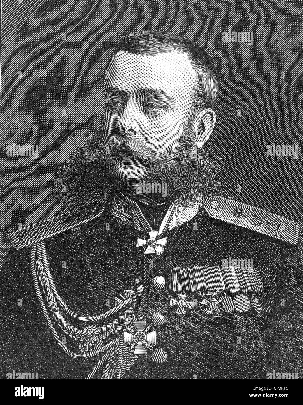 MIKHAIL SKOBELEV (1843-1882) Russian general - Stock Image