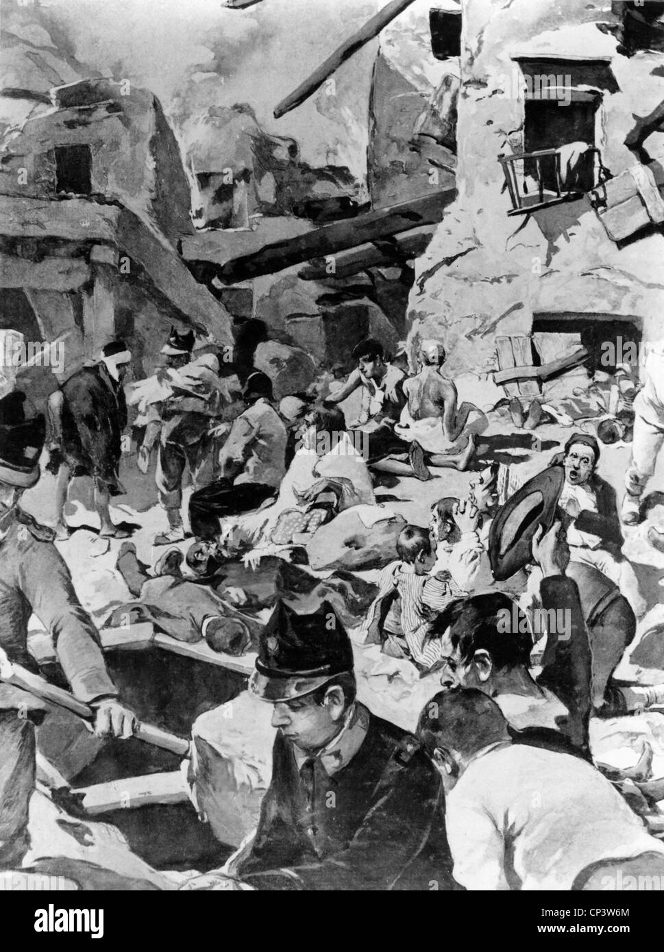 disasters, earthquakes, Messina, Italy, 28.12.1908, Additional-Rights-Clearences-NA - Stock Image