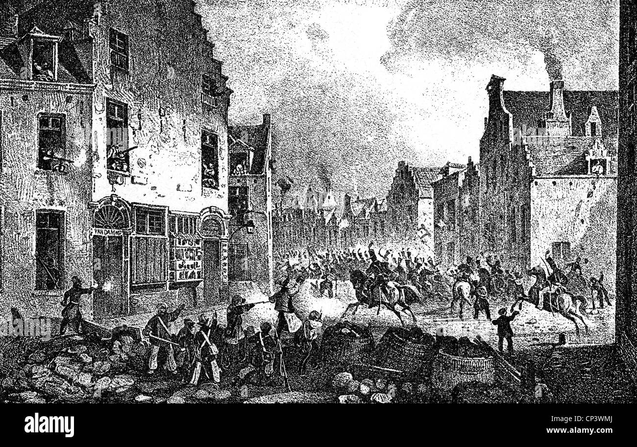 events, Belgian Revolution 1830 - 1831, Additional-Rights-Clearences-NA - Stock Image