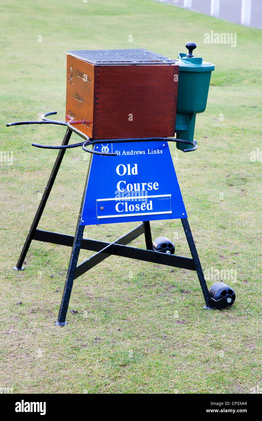 First Tee Ball Washer St Andrews Fife Scotland - Stock Image