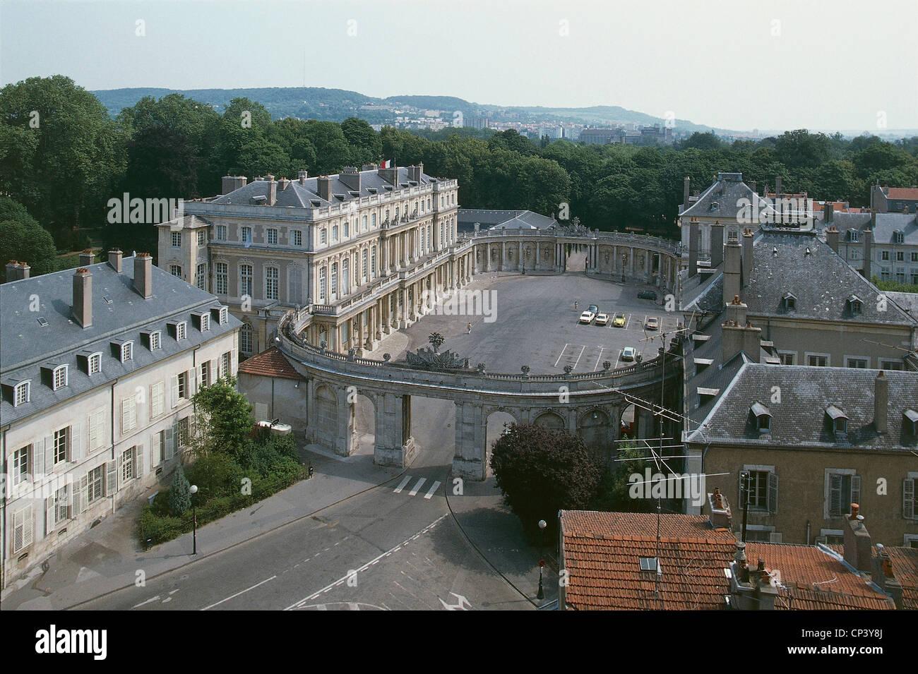 France Lorraine Nancy. Government Palace on Place de la Carriere (architect Emmanuel Here de Corny, 1705-1763; World - Stock Image