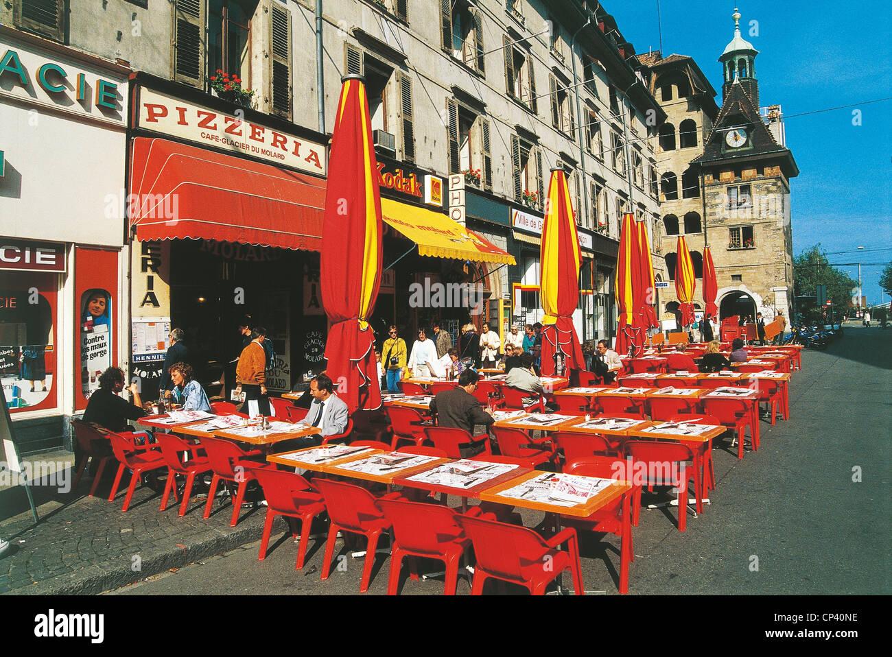 Switzerland Canton Of Geneva Geneva Restaurants In Place Du