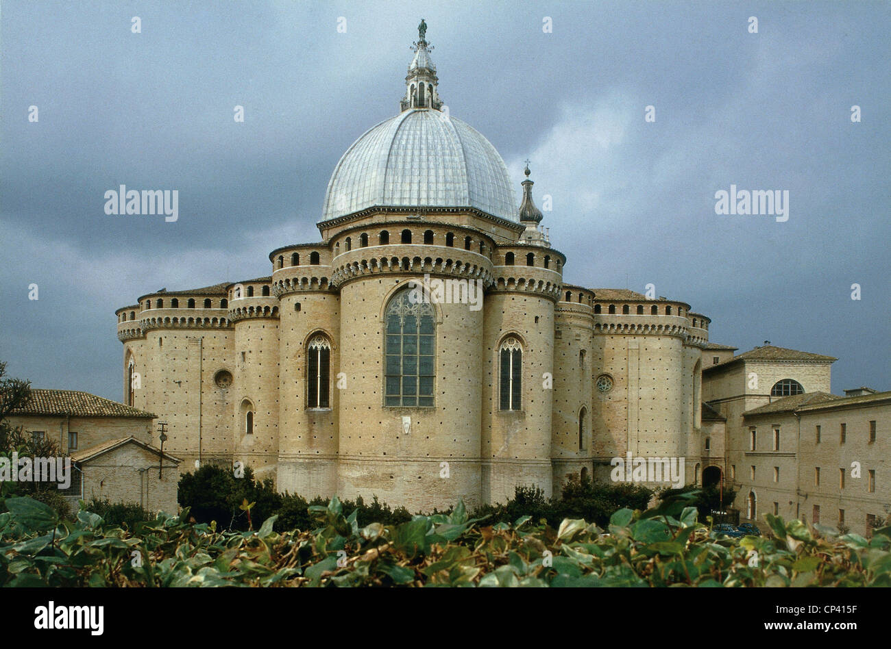 Marche, Loreto (AN). Shrine of the Holy House; prospectus apse. - Stock Image