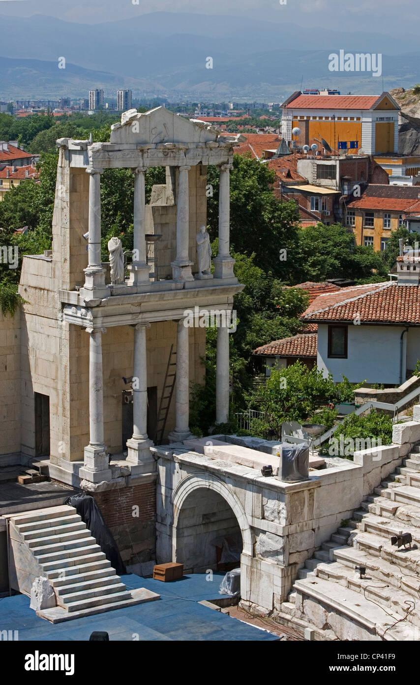 Bulgaria - Plovdiv. The ancient Roman Theatre Plovdiv (second century BC) - Stock Image
