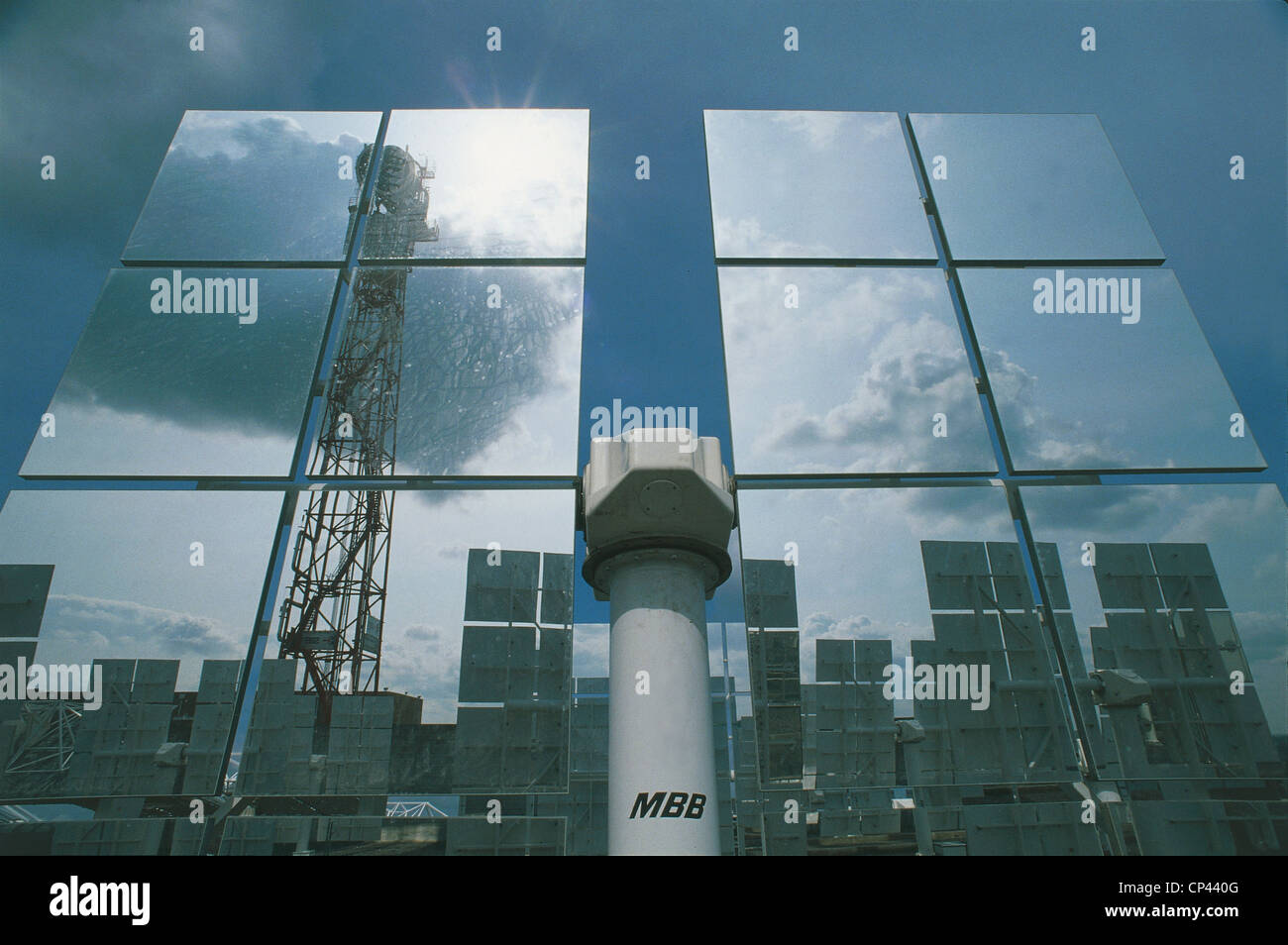 Sicily - Adrano (Ct). Solar power plant boiler Stock Photo: 48034128 ...